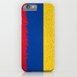 Extruded flag of Columbia iPhone Case