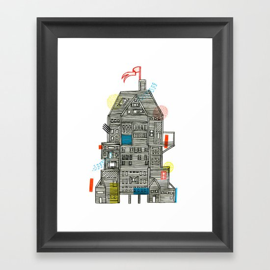 Holiday Camp Framed Art Print