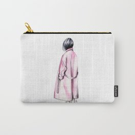Pink coat Carry-All Pouch