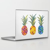 pineapples Laptop & iPad Skins featuring Pineapples by Cat Coquillette