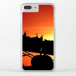 Sunset art work Clear iPhone Case