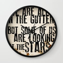 Oscar Wilde: Looking At The Stars Wall Clock