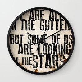 Oscar Wilde: Looking At The Stars Wall Clock