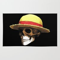 luffy Area & Throw Rugs featuring Straw Hat Zombie by BradixArt