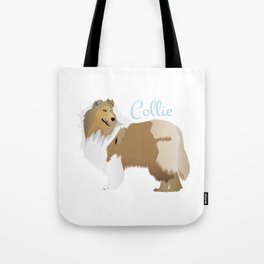 Graceful Rough Collie Tote Bag