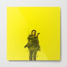 John Wick - Celebrity (Florescent Color Technique) Full Pose Metal Print