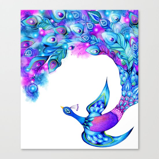 Peacock Fantasy Canvas Print