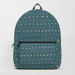 Cross and Diamond Pattern Backpack