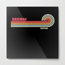 Bozeman Montana City State Metal Print