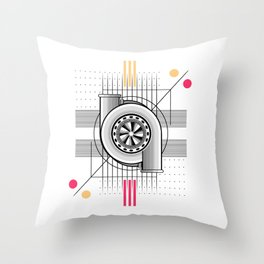 Turbo engine Throw Pillow