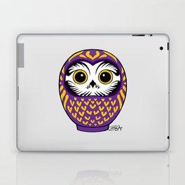 Purple Fukuro Daruma Laptop & iPad Skin