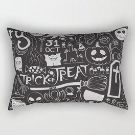 Halloween Doodles (Pale Grey) Rectangular Pillow