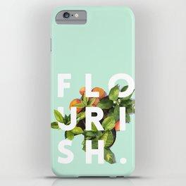 Flourish #society6 #buyart #typography #artprint iPhone Case