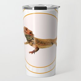Fear the Bearded Dragon Lizard Reptile  Travel Mug