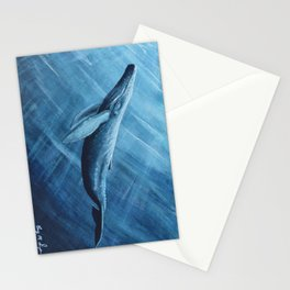 Watercolor Whale Stationery Cards