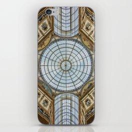 Ceiling of the Galleria Vittorio Emanuele II, Milan iPhone Skin