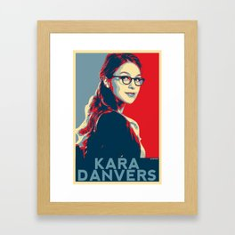 Kara Danvers POP ART Poster Framed Art Print