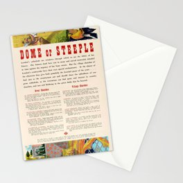 billboard Dome Or Steeple LT Denys Nicholls Stationery Cards