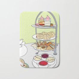 English Afternoon Tea Bath Mat