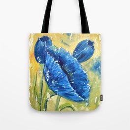 Fleur Bleu Tote Bag