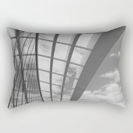 Sky Garden Rooftop, London - Black and White Rectangular Pillow