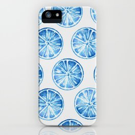 Blue Citrus iPhone Case