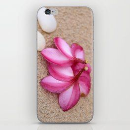 Flowers and Cockleshells on Sand iPhone Skin