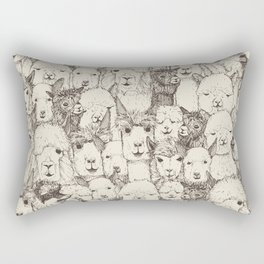 just alpacas natural Rectangular Pillow