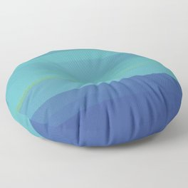Impressions in Teal and Blue Floor Pillow