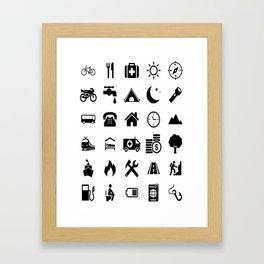 Extreme White Icon model: Traveler emoticon help for travel t-shirt Framed Art Print