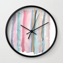 Watercolor stripe Wall Clock