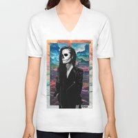 dreamer V-neck T-shirts featuring Dreamer by FRSHCo.