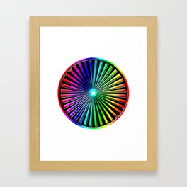 Rainbow Rays Design Framed Art Print