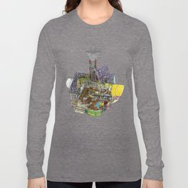 Up - Carl's House Cross-Section Long Sleeve T-shirt