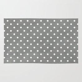 dark gray swiss dots Rug