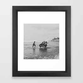Swim Camp Framed Art Print