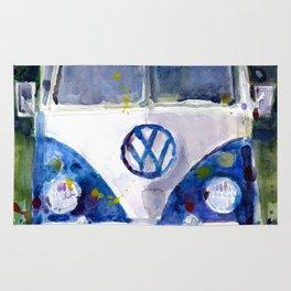 Car Van Watercolor Original Art Rug