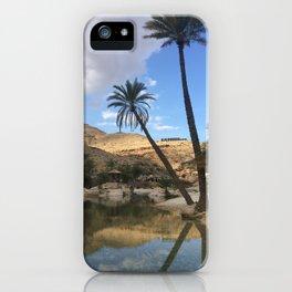Wadi Bani Khalid Desert Oasis Palm Trees Photography Print Oman iPhone Case