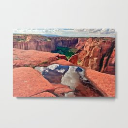 Reflections of Canyon De Chelly Arizona Metal Print