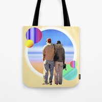 melissa smith Tote Bags featuring Melissa & Ernie by MCDiBiase
