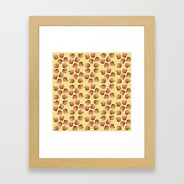 Yellow small Clams Illustration pattern Framed Art Print