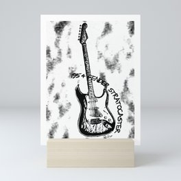 1954 STRATOCASTER, Guitar Art, Music Wall Art, Rick & Roll Decor Mini Art Print