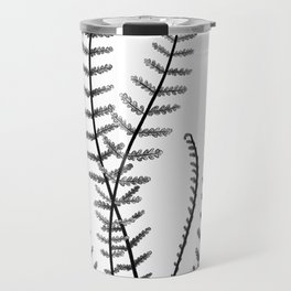 Minimal Black Fern Travel Mug