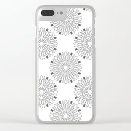 Kitchen cutlery outlined circles Clear iPhone Case
