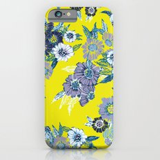 Floral pattern in Neon yellow Slim Case iPhone 6s