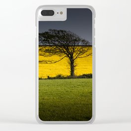 Rapeseed field Clear iPhone Case