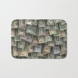 US dollars all over cover Bath Mat