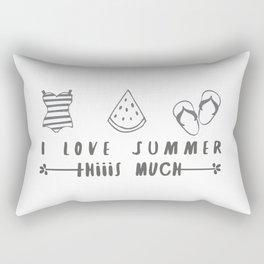 I love summer Rectangular Pillow