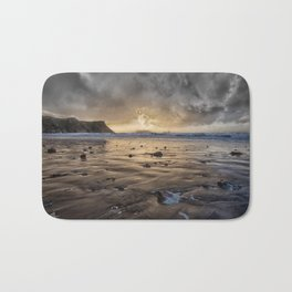 Thunder at Rhossili Bay Bath Mat