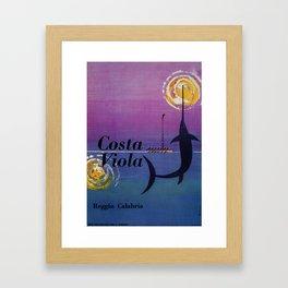 Costa Viola Reggio Calabria Framed Art Print